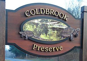 Coldbrook Preserve sign
